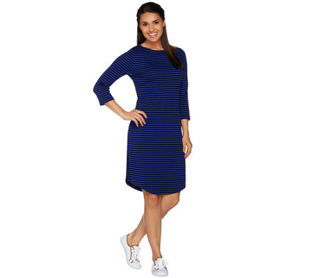 Isaac Mizrahi Live! Essentials Boatneck Knit Dress