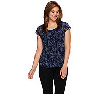Linea by Louis Dell'Olio Printed Short Sleeve Top - A279516