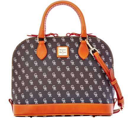 Dooney & Bourke MLB Rockies Zip Zip Satchel
