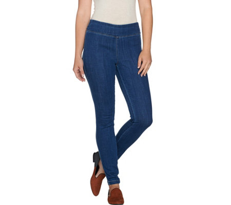 LOGO by Lori Goldstein Petite Stretch Denim Skinny Jeans
