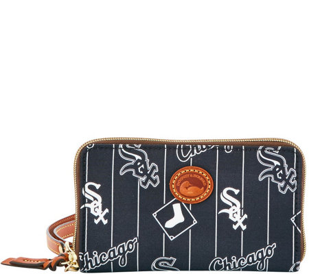 Dooney & Bourke MLB Nylon White Sox Zip Around Phone Wristlet