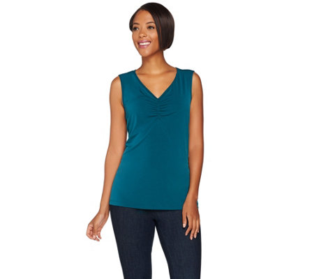 Susan Graver Modern Fit Essential Sleeveless Liquid Knit Top