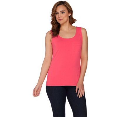 """As Is"" Susan Graver Weekend Cotton Modal Sleeveless Tank"