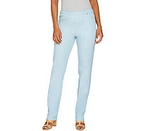 H by Halston Petite Studio Stretch Straight Leg Pull-on Pants - A289516