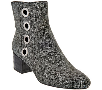 """As Is"" LOGO by Lori Goldstein Ankle Boots with Grommet Detail - A290016"