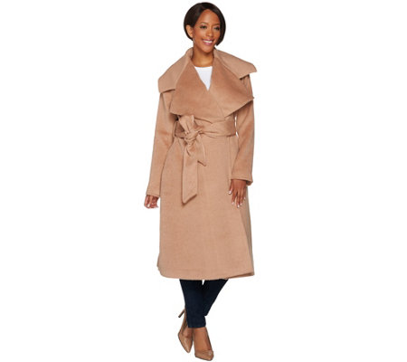 """As Is"" G.I.L.I Petite Notch Collar Belted Coat"