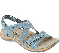 Earth Origins Leather Triple Adjust Sandals - Shane - A304216