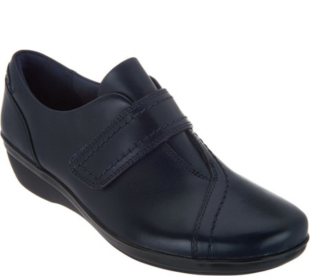 """As Is"" Clarks Leather Monk Strap Shoes- Everlay Dixie"