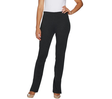 """As Is"" Kelly by Clinton Kelly Regular Ponte Knit Bootcut Pants"