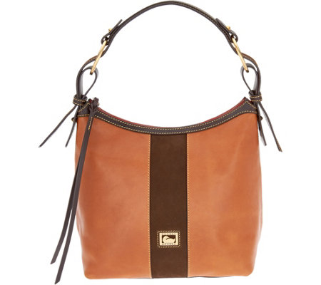 """As Is"" Dooney & Bourke Florentine & Suede Maya Hobo"