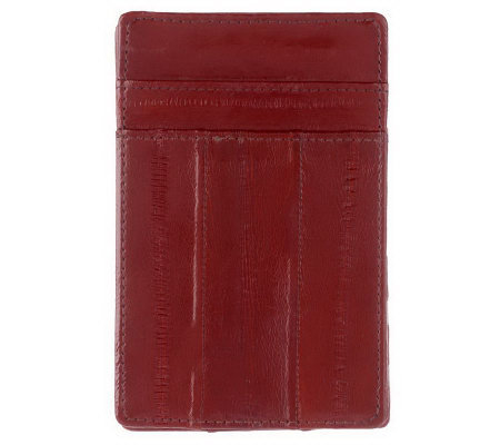 Lee Sands Men's Eelskin Credit Card Holder