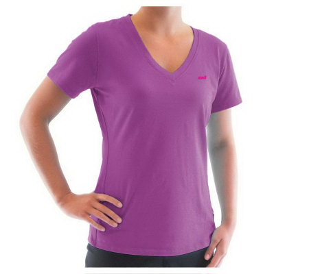 Ryka Women's Fit Short Sleeve V-Neck Top