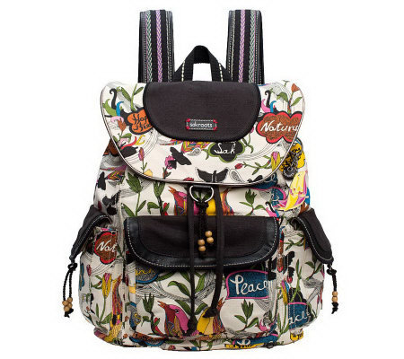 Sakroots Artist Circle Flap Backpack