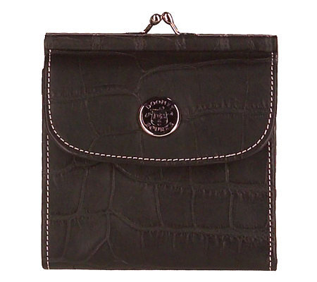 Dooney & Bourke Croco Embossed Leather Credit Card Wallet