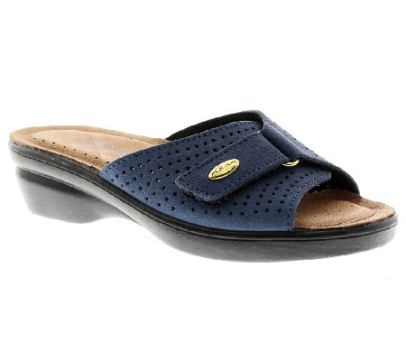 Flexus by Spring Step Kea Leather Slide Sandals