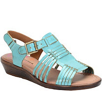 Comfortiva by Softspots Leather Slingback Sandals - Freeport - A358516