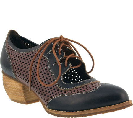 L'Artiste by Spring Step Leather Lace-Up Shoes- Gabriel