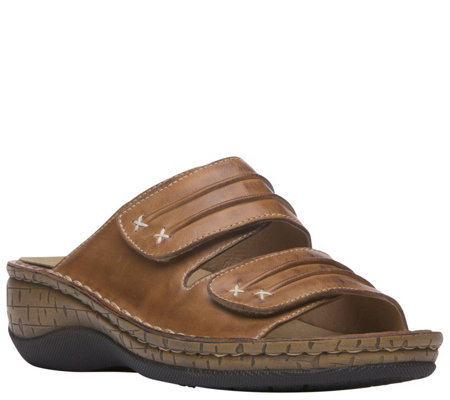 Propet Leather Slide Sandals - June