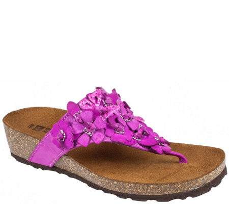 White Mountain Leather Thong Sandals - Bermuda
