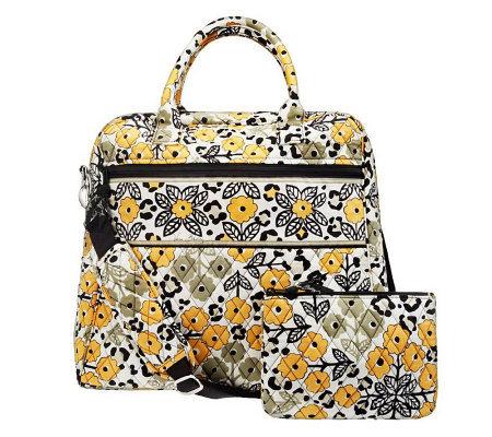 Vera Bradley Signature Print Travel Bag And Cosmetic Case