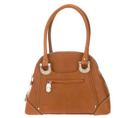 B. Makowsky Candice Glove Leather Zip Top Satchel