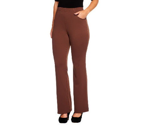 Liz Claiborne New York Petite Boot Cut Ponte Knit Pants
