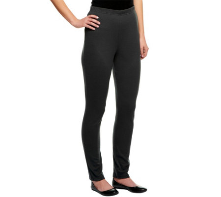 Nina Leonard Full Length Leggings with Elastic Waistband