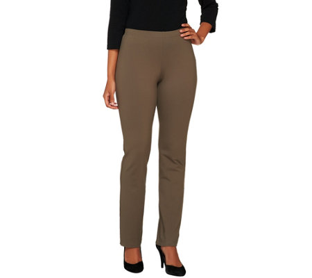 """As Is"" Women with Control Petite Pull-on Slim Leg Pants"