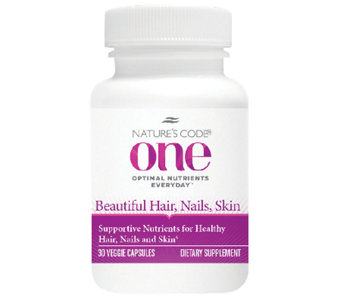 Nature's Code ONE 30day Hair, Skin, and Nails Supplement - A263617