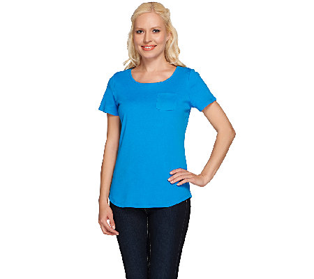 Liz Claiborne New York Essentials Short Sleeve Tee w/ Pocket
