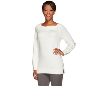 Liz Claiborne New York Pullover Sweater w/ Crochet - A268717