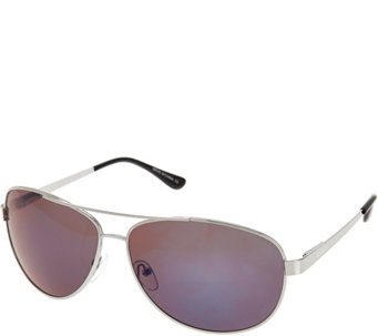 Solarite Spirit Aviator Frame Sunglasses with Microfiber Case - A269117