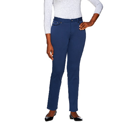 Women with Control Regular Ponte di Roma Knit Pants