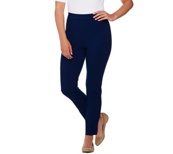 Shape FX Petite Ponte Knit Pull-On Ankle Pants - A272117