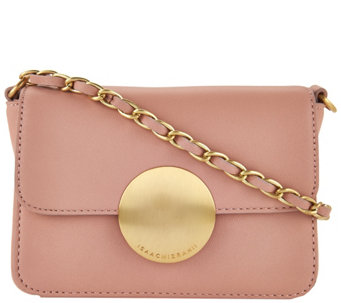 Isaac Mizrahi Live! Whitney Lamb Leather Crossbody w/ Circle Hardware - A276217