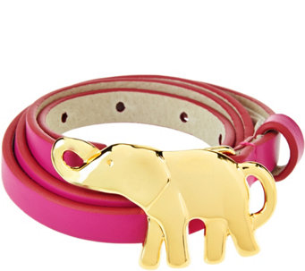 C. Wonder Waist Belt with Goldtone Elephant Buckle - A277217