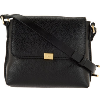 H by Halston Pebble Leather Crossbody Handbag - A279817