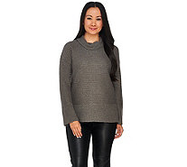 H by Halston Silk-Cashmere Blend Turtleneck Pullover - A280017