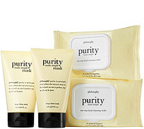 philosophy purity made simple cleansing cloths & masks - A280317