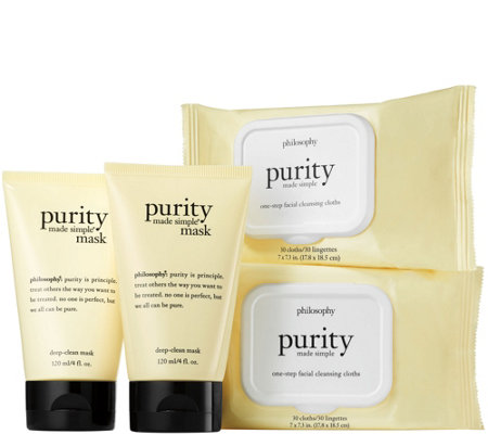 philosophy purity made simple cleansing cloths & masks