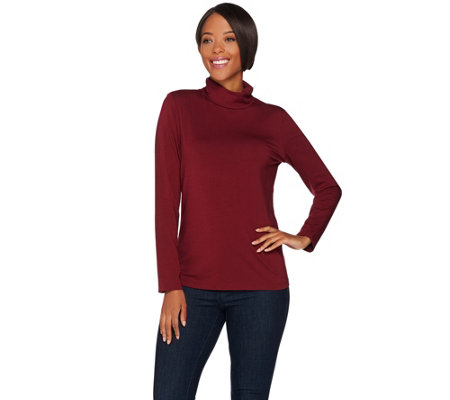 Susan Graver Modern Essentials Cotton Modal Turtleneck Top