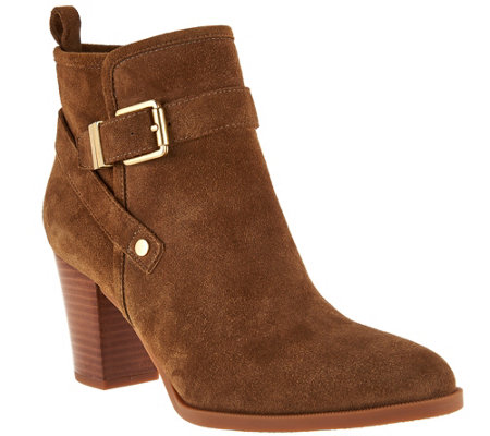 Franco Sarto Leather or Suede Ankle Boots - Delancy