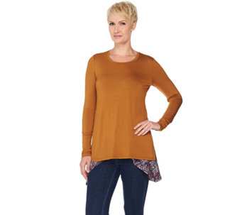LOGO by Lori Goldstein Knit Top and Printed Tank Twin Set - A283017