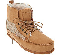 MUK LUKS Lily Moccasin Style Short Boot w/Faux Fur - A283117