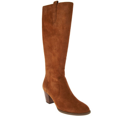 Vionic Suede Tall Shaft Boots - Lanie