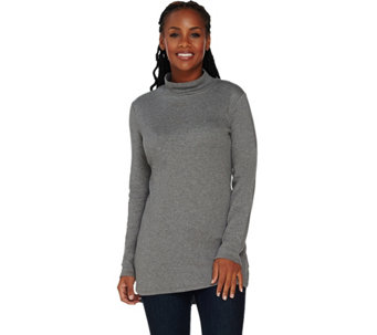 Isaac Mizrahi Live! Essentials Mock Neck Knit Tunic - A283717