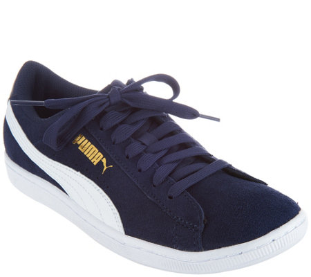 PUMA Suede Lace-up Sneakers - Vikky Classic