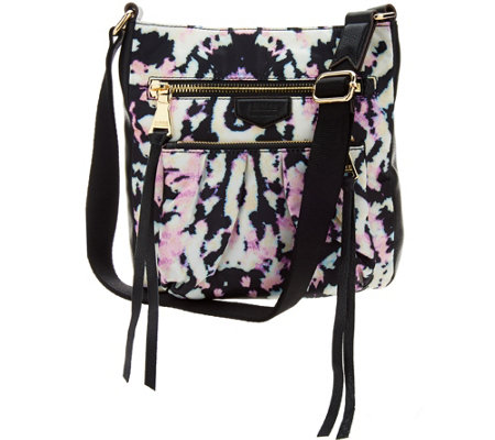 Aimee Kestenberg Nylon Crossbody w/ Leather Trim -Tyler