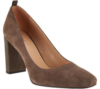 """As Is"" Franco Sarto Suede Pumps - Ingall - A290017"