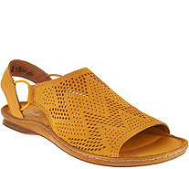 Clarks Artisan Leather Perforated Slip-on Sandals - Sarla Cadence - A291417